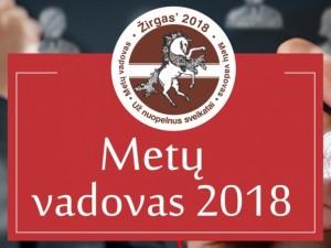 """Skelbiami konkurso """"Metų vadovas 2018"""" balsavimo rezultatai"""