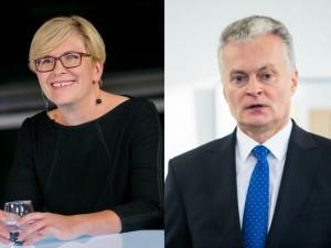 Antrajame prezidento rinkimų ture kausis I.Šimonytė ir G.Nausėda