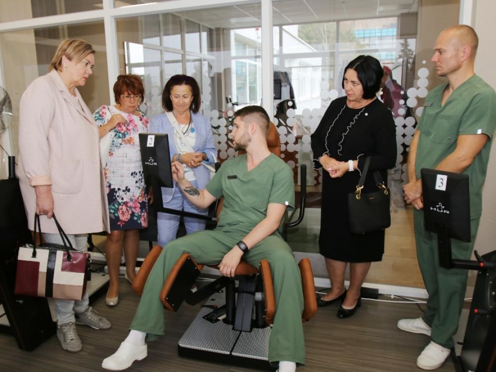 Pažangi robotizuota įranga Šiaulių reabilitacijos centre