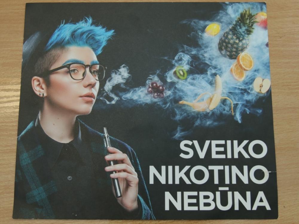 Ką visuomenė žino apie nikotino turinčius produktus?