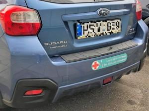 Beveik 2 tūkst. medikų automobilius pasižymėjo specialiu ženklu