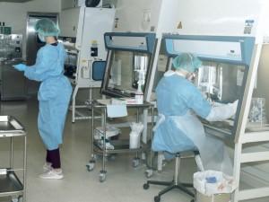 Pandemijos metu darbas laboratorijoje verda iki išnaktų
