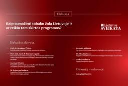 Tabako žalos mažinimui – išskirtinis šalies sveikatos specialistų dėmesys (tiesioginė transliacija nuo 15 val.)