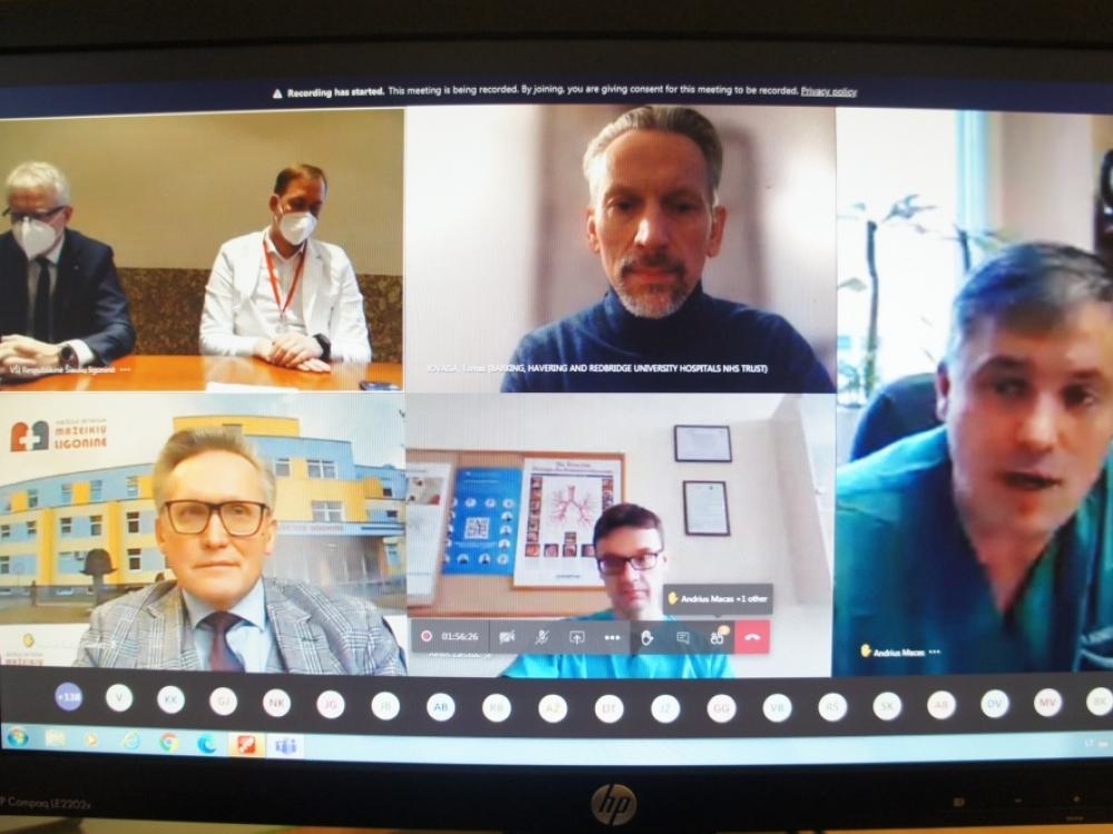 Šiaurės Lietuvos medikams – pirmoji nuotolinė COVID-19 gydymui skirta konferencija