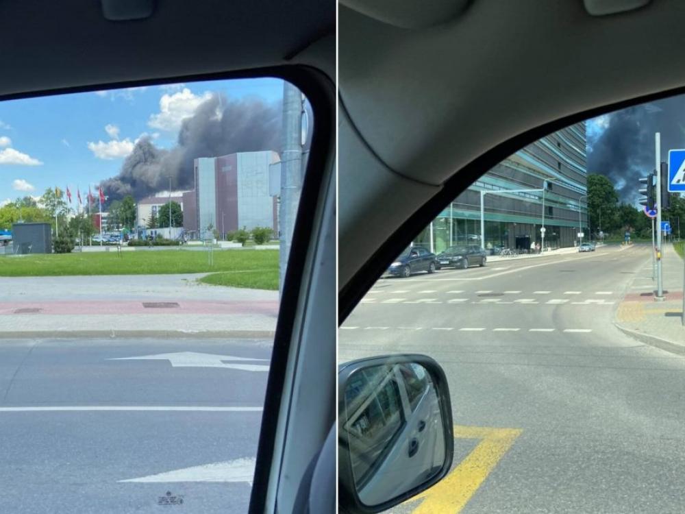 Įspėjimas vilniečiams: dėl kilusio gaisro, venkite būti gryname ore