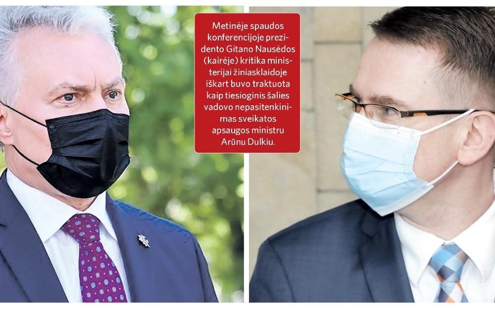 Kur nuves prezidento ir ministro konfrontacija?