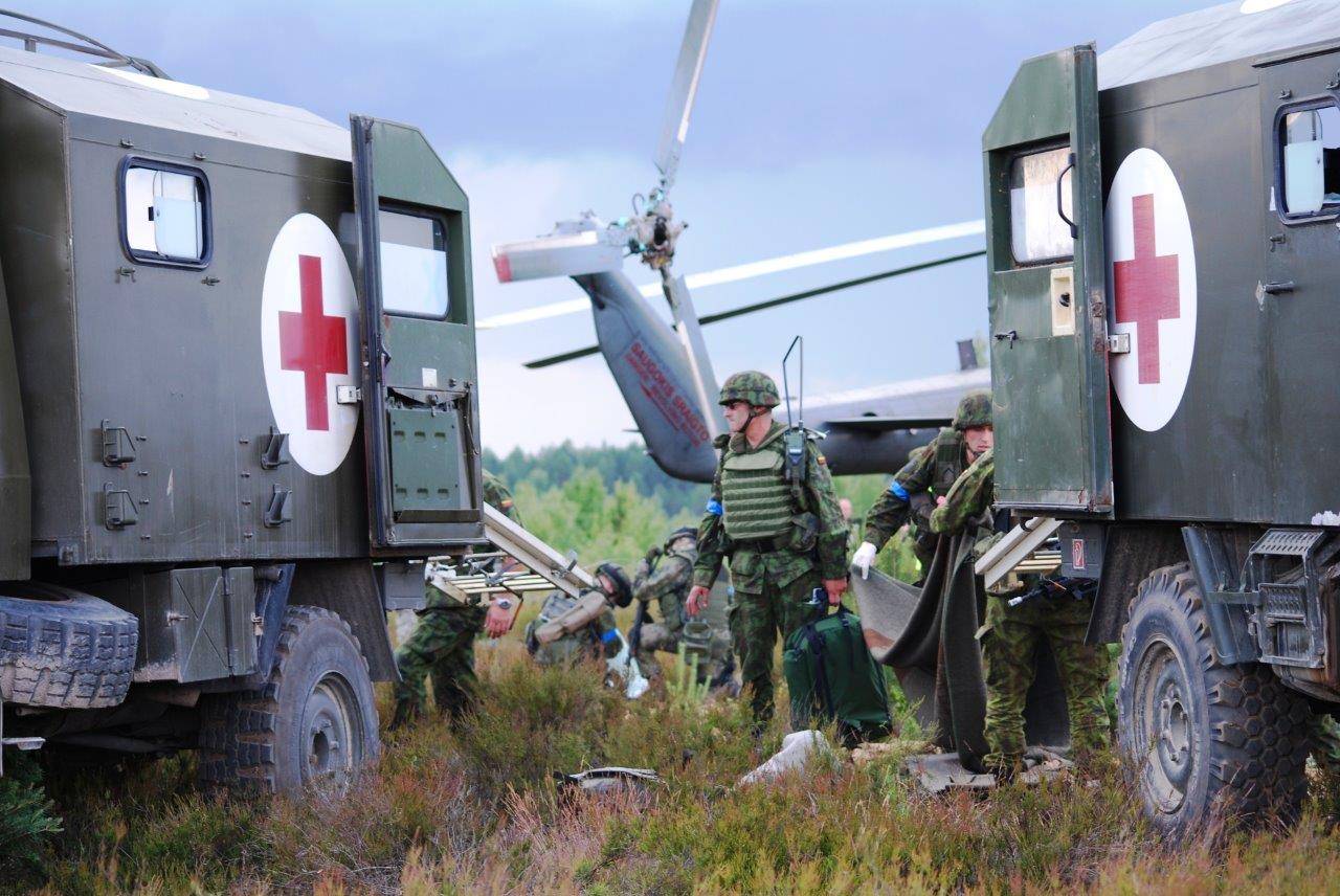 Lietuva kartu su JAV teiks paramą Ukrainos paramedikams
