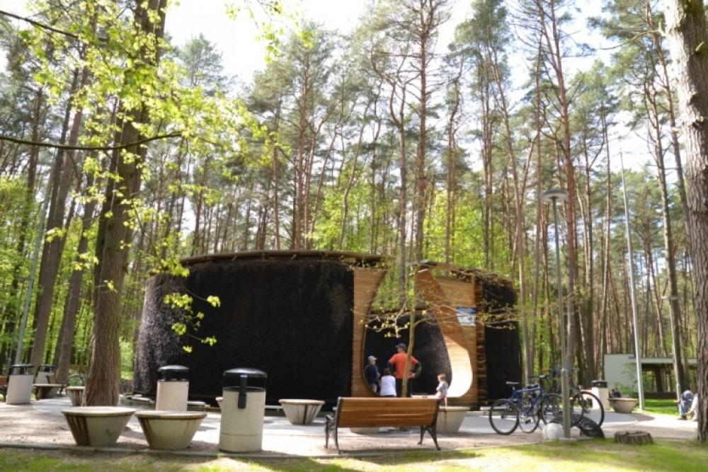 Birštone atidarytas vienintelis Lietuvoje mineralinio vandens garinimo bokštas