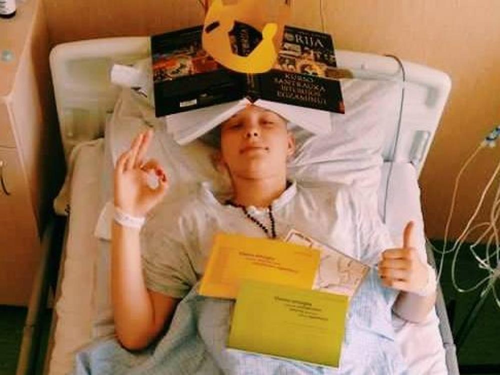 Kraujo vėžiui nesvarbu, jog tau egzaminas