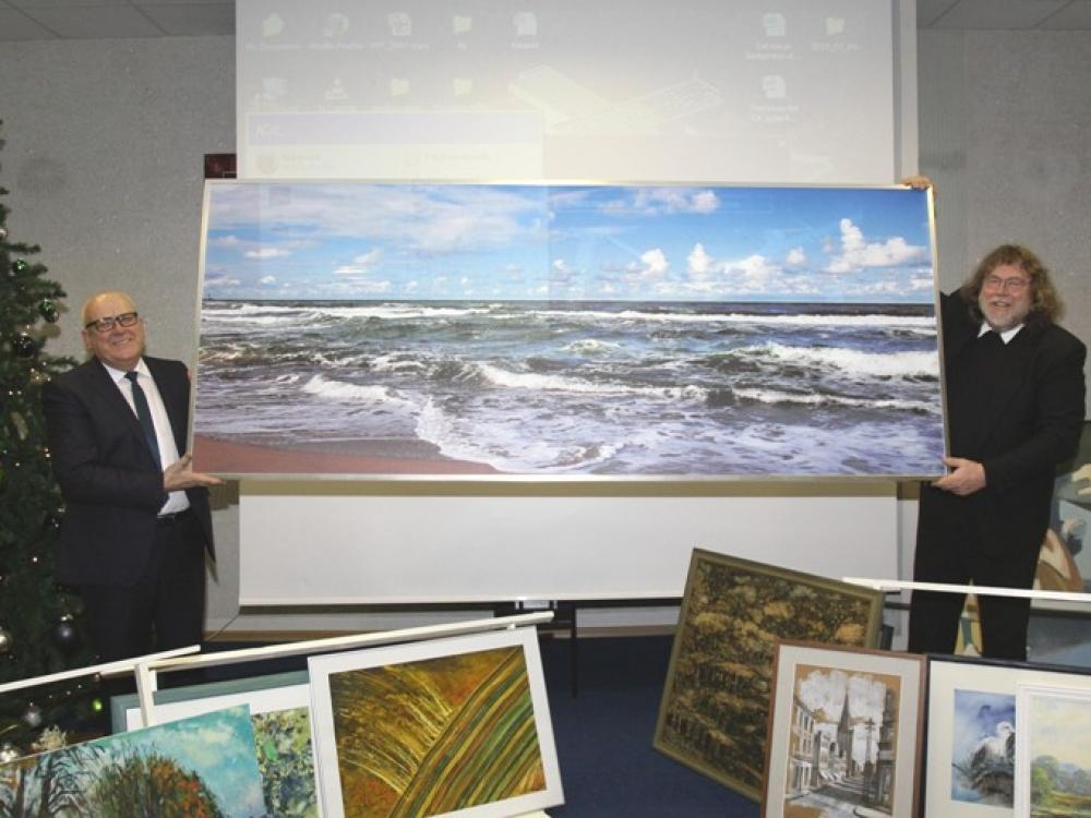 Klaipėdos jūrininkų ligoninėje – nauji meno šedevrai