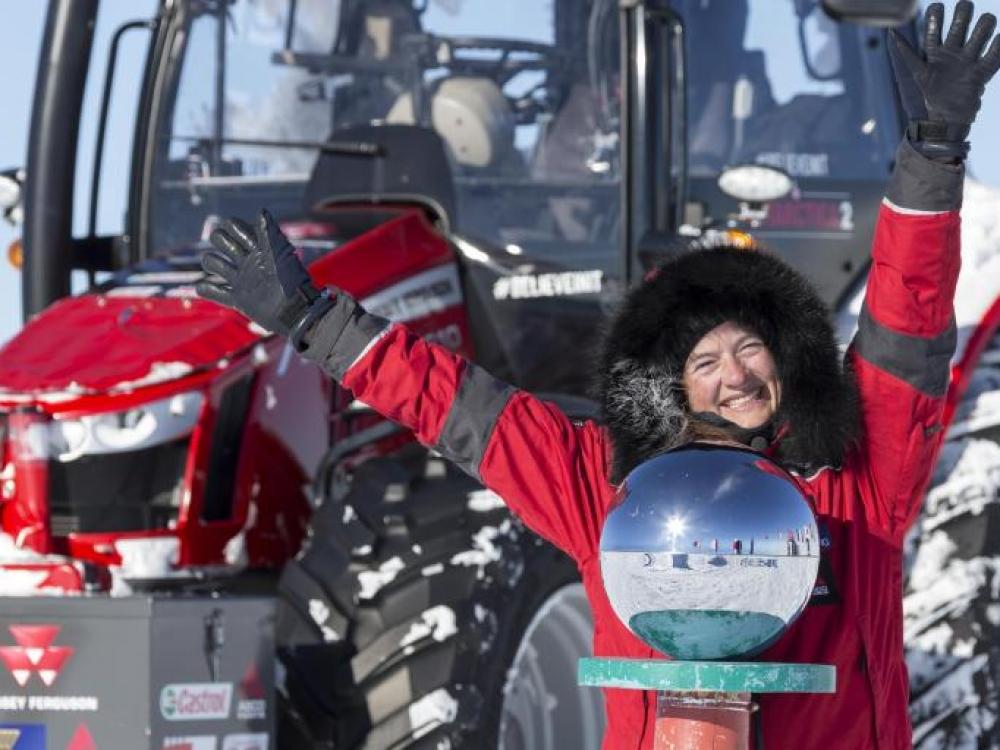 Olandė Manon Ossevoort: traktoriumi nors ir į pasaulio kraštą