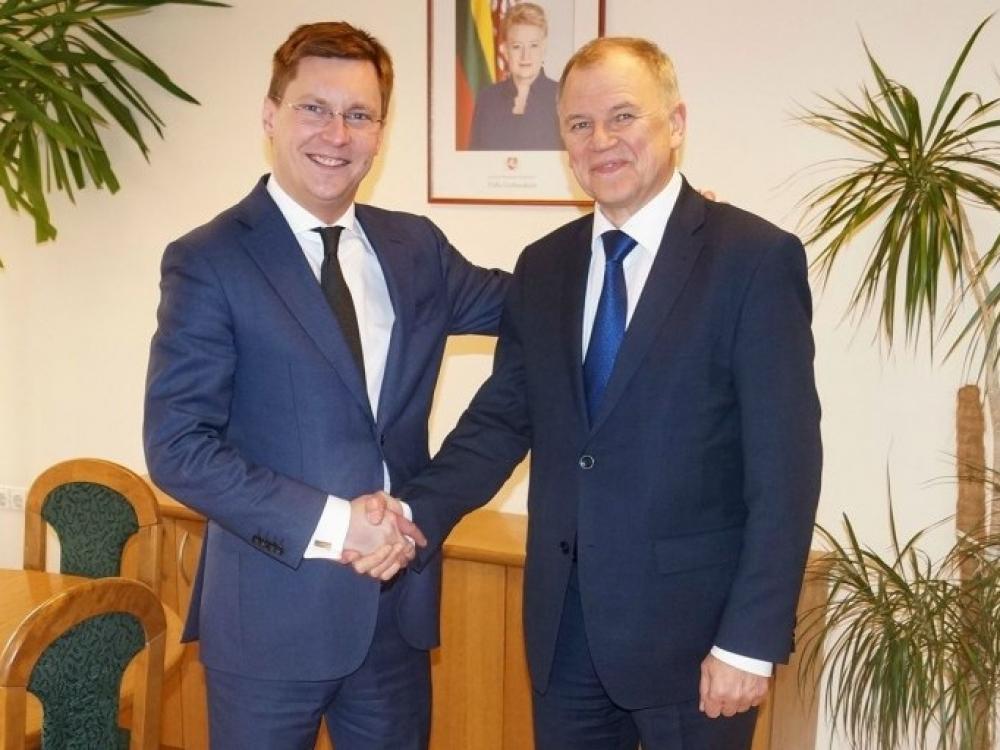 Sveikatos apsaugos sistemos aktualijas ministras J.Požela aptarė su EK nariu V.P.Andriukaičiu