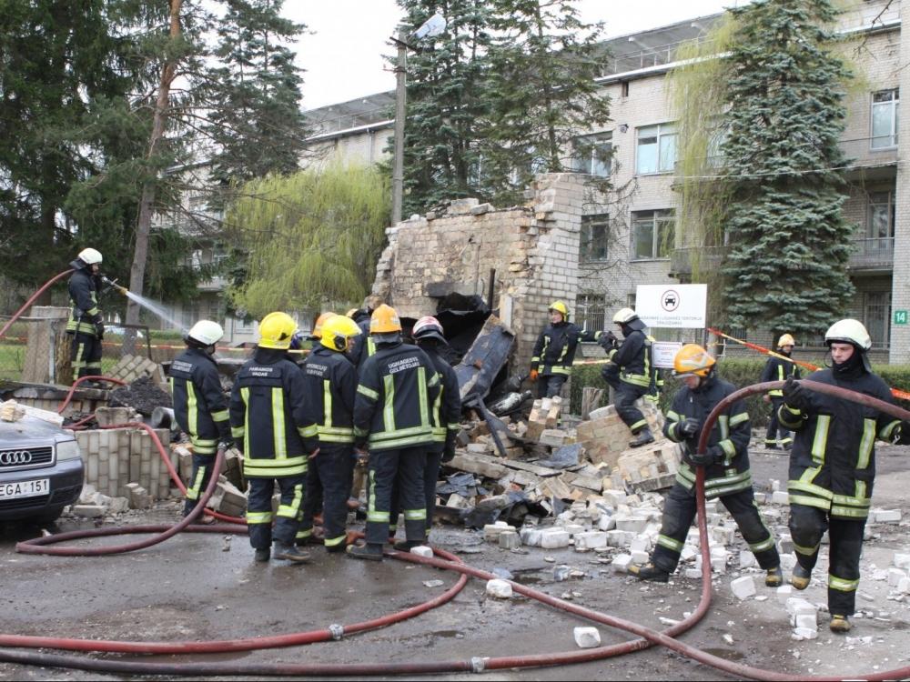 Prie Vaikų ligoninės Santariškėse nugriaudėjo sprogimas