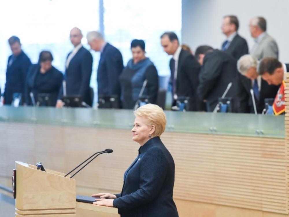 Prezidentės Dalios Grybauskaitės metinis pranešimas
