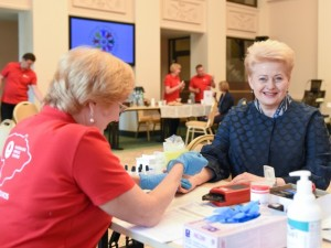 Startavo Prezidentės globojamas kraujo donorystės turas