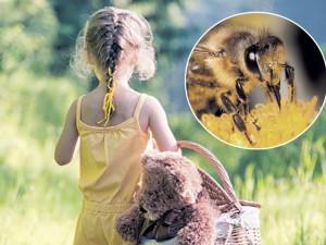 Pirmajam bitės įgėlimui mažyliai mažiau jautrūs