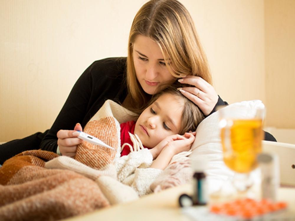 """Gripo komplikacijos pavojingos ir """"tvirtiems"""" vaikams"""