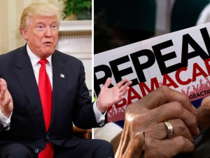 Donaldas Trumpas persigalvojo dėl sveikatos sistemos