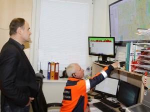 Vilniaus greitosios kelionė atsekama dispečerio monitoriuje