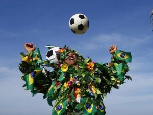Brazilija gyvena futbolo šventės nuotaikomis