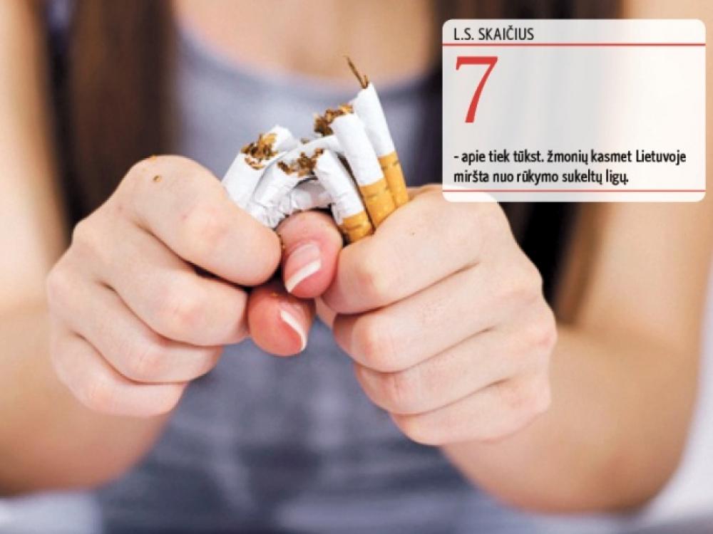 Pagelbėti metantiesiems rūkyti telks daugiau gydytojų