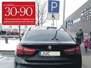 Neįgalieji liks be parkavimosi vietų?