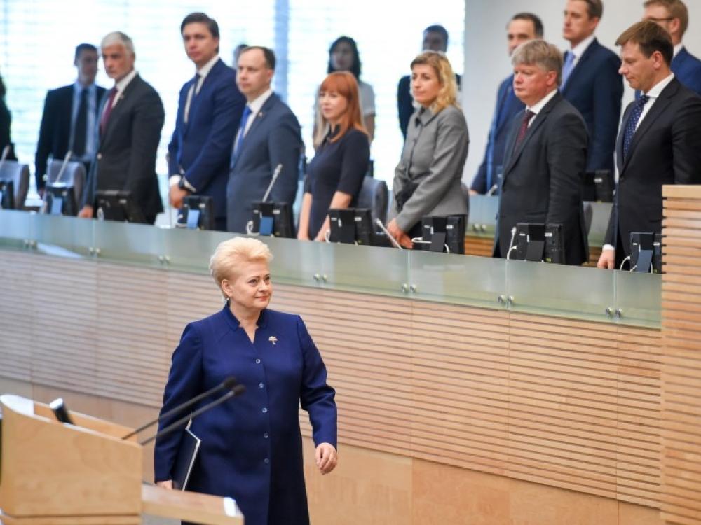 Prezidentė Dalia Grybauskaitė perskaitė metinį pranešimą