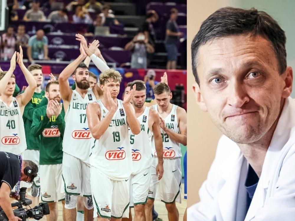 Krepšinio rinktinės gydytojas: džiaugiamės, kai kameros neužfiksuoja sportininkų traumų