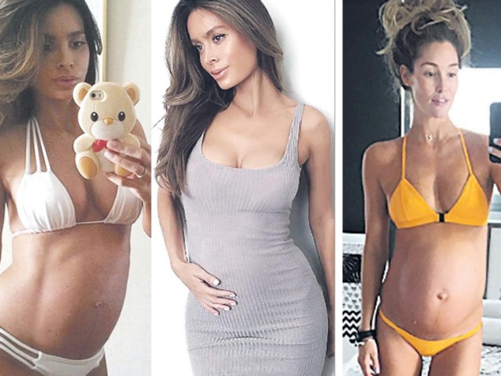 Nėščia ir neįtikėtinai liekna ar gudraujanti dėl populiarumo?
