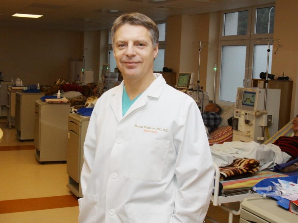 """Prof. M.Miglinas: """"Atmosfera transplantacijoms - vis geresnė"""""""