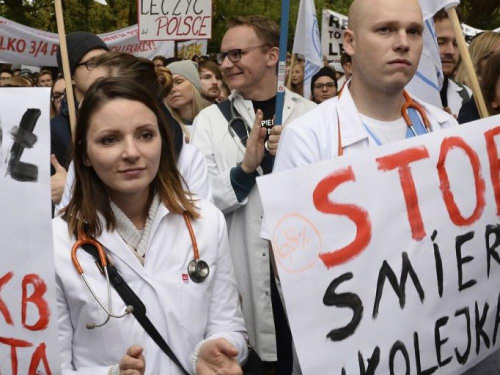 Lietuvos gydytojus įkvepia lenkų rezidentų bado streikas