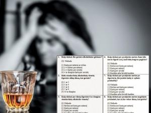 Po alkoholio rizikos testo – įrašas sveikatos kortelėje