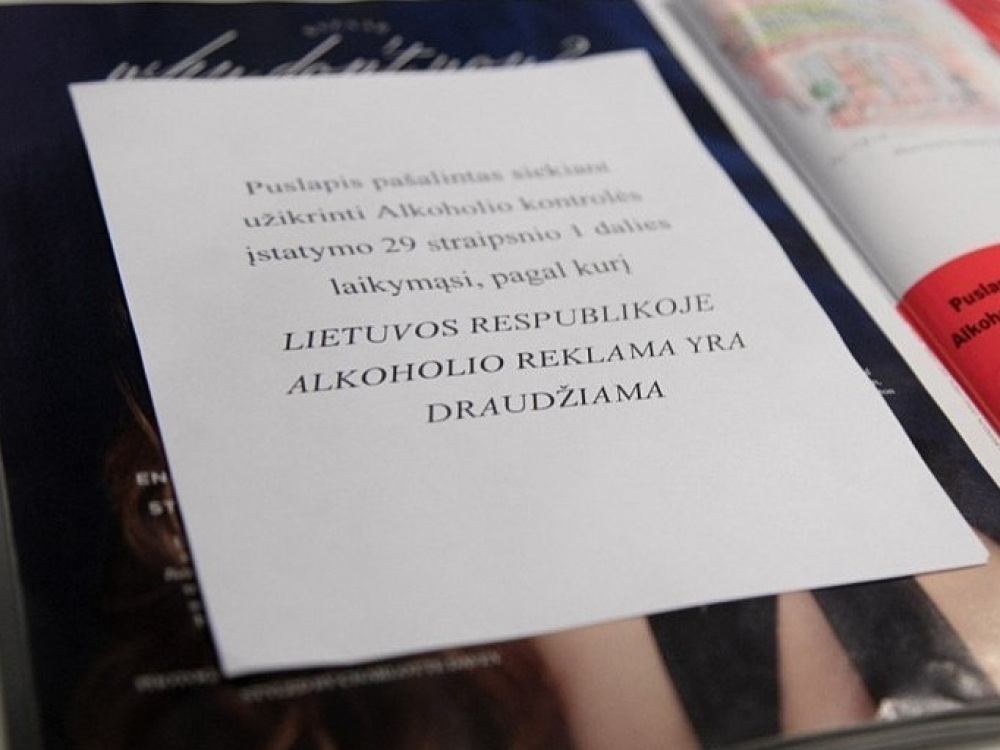 Departamentas spręs, ką daryti dėl alkoholio reklamos užsienio leidiniuose