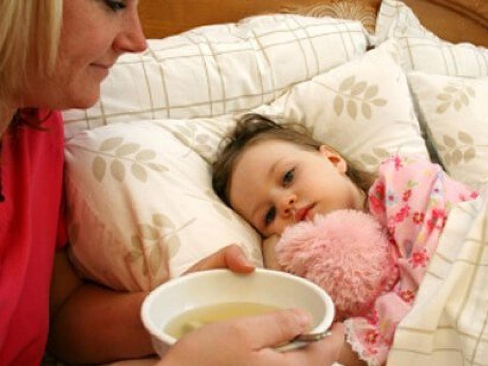Kaip valgydinti susirgusį vaiką