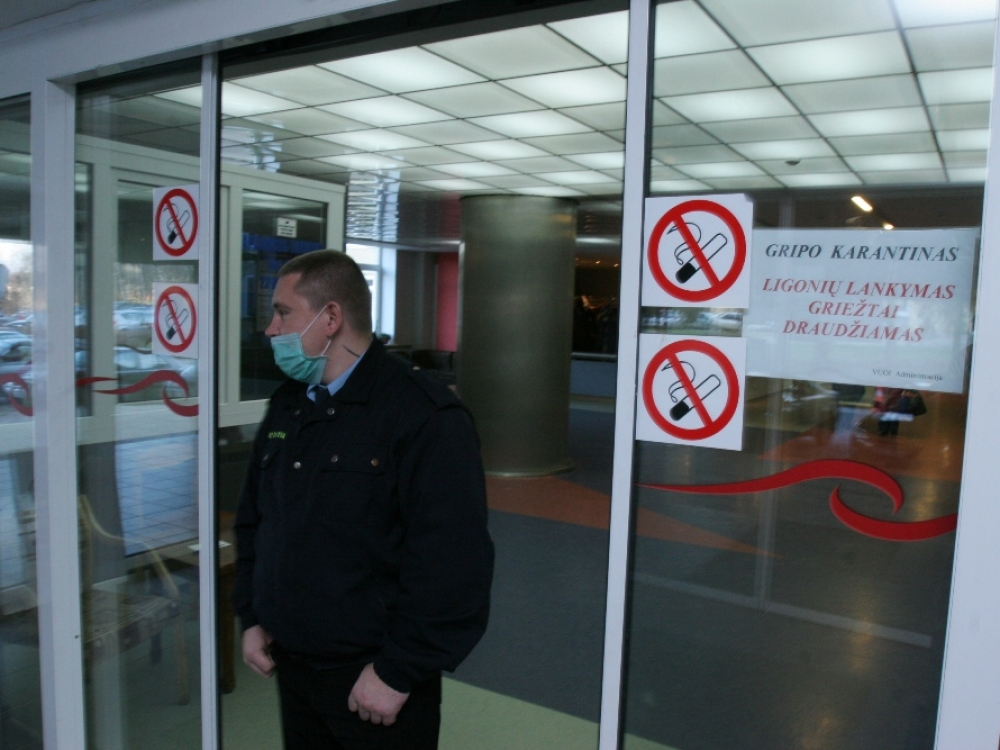 Ketvirtadienį gripo epidemija atšaukta Vilniaus miesto savivaldybėje