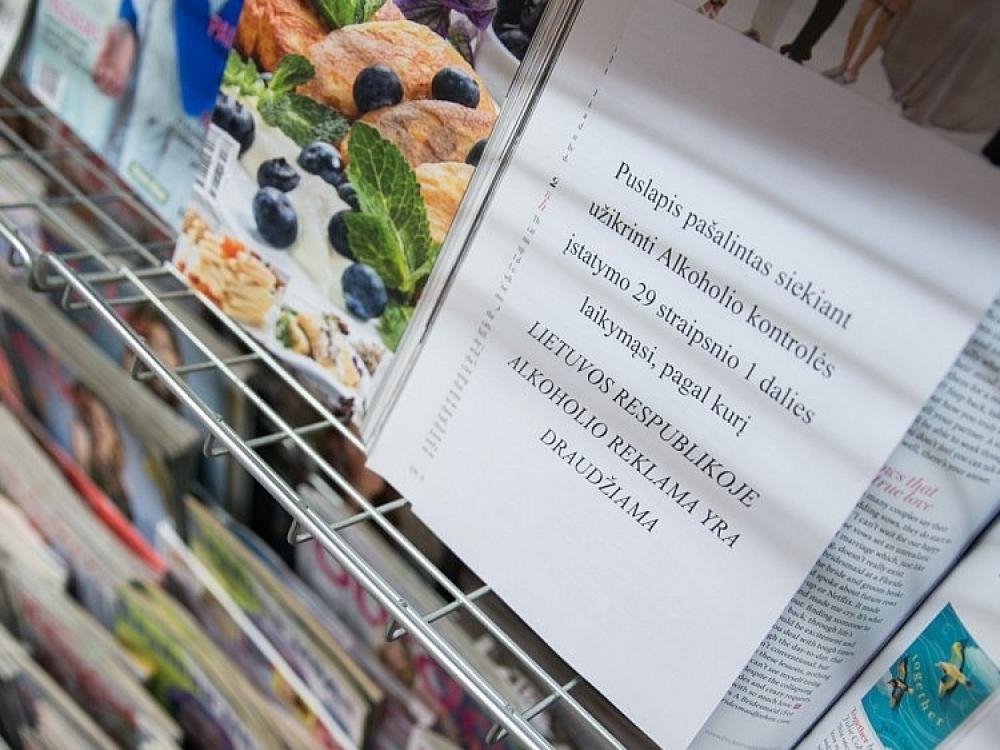 Vyriausybė teiks siūlymus dėl alkoholio reklamos žurnaluose
