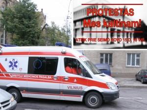 Greitosios pagalbos medikų apie protestą prie Seimo neinformavo