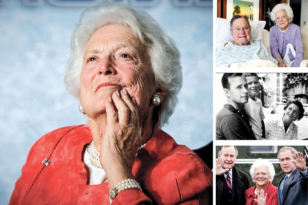 Barbara Bush buvo populiaresnė už prezidentus vyrą ir sūnų