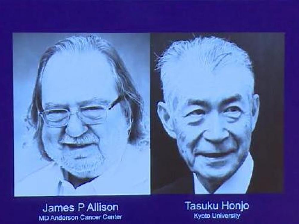 2018-ųjų Nobelio medicinos premija - amerikiečiui ir japonui už vėžio terapiją